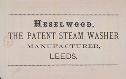 Advert For Heselwood's Funnell Oil Cans reverse